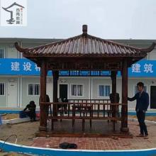 广州厂家定做印尼菠萝格六角凉亭,别墅花园小区实木四角凉亭