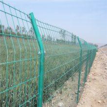 桃型柱小区围栏网 山东围墙三折弯护栏 仓库隔离网围栏厂家