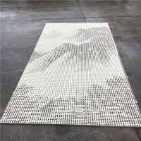 博物馆山水画冲孔铝单板_冲孔铝单板形象墙佛山厂家免费设计