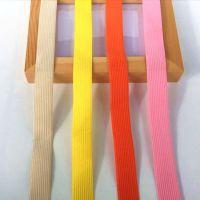 彩色勾边松紧带 2cm宽扁钩编弹力带 橡筋织带 服装辅料