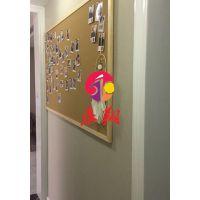 珠海软木板照片墙留言板3记事板广告板W公告栏实木框
