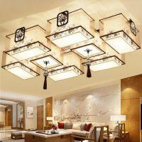 2017中式吸顶灯 创意长方形客厅灯具led大气卧室书房餐厅灯灯具批