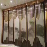 定制不锈钢屏风隔断玄关 欧式钛金屏风花格 生产各类不锈钢工程