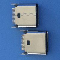 USB 3.1 夹板母座 高度8.8 9.3 10.5 夹板0.8 1.0 铆合鱼叉脚