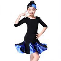 新款儿童拉丁舞裙女童演出服夏季考级表演服比赛练功服拉丁舞服装