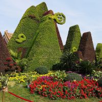 可定制室内外仿真绿雕动植物造型 园林景观立体花坛 花艺绿植雕塑