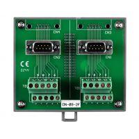 泓格带导轨和两个9针插头的I/O接线板DN-09-2F