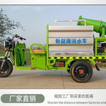 浩阳热销新能源小型三轮洒水车 电动雾炮车 工地降尘电动喷洒车