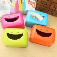 1864 创意笑脸纸巾盒纸盒抽纸盒纸巾筒防水纸巾抽厨房 K