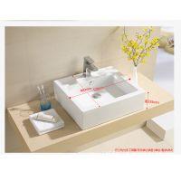 美标陶瓷台上盆艺术盆椭圆形方形面盆洗脸盆台盆洗手池