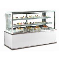 伊碟蛋糕柜冷藏展示柜台式直角冰柜前开门水果熟食保鲜柜非标定做