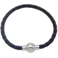 不锈钢扣搭配编织皮革男女手绳配饰手链手绳