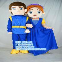 罗密欧与朱丽叶卡通人偶服装婚庆节庆用品行走人偶服装