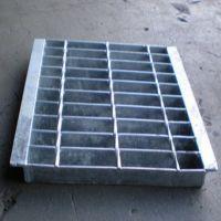 钢格板水沟盖|沟盖钢格栅板|热镀锌钢格板制造厂家朗通丝网制造