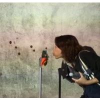 武汉恒鑫多媒体吹风车旋转感应投影互动语音祝福墙互动吹蒲公英转速控制识别定制0125