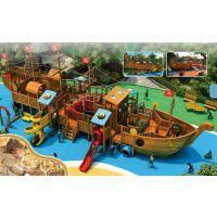 厂家直销景区公园海盗船游乐设备 幼儿园大型户外游乐玩具 木质海盗船生产厂家