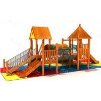 厂家直销定制户外木质大型滑滑梯 小房屋造型组合滑梯 儿童户外滑梯游乐设备
