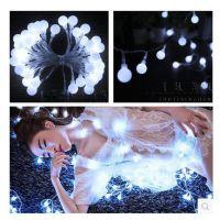 新夜景摄影道具婚纱外景拍照道具影楼样照创意小道具 LED白色灯串