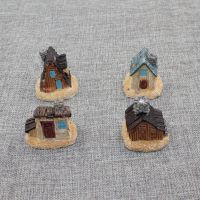 新款创意 美式仿木头沙滩小房子 微景观造景树脂摆件 厂家直销