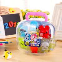 得力7045橡皮泥3D彩泥(海洋宝贝)模具套装12色彩泥玩具