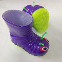 揭阳PVC儿童雨鞋毛毛虫童靴卡通图案小童水鞋