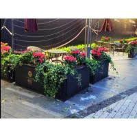 南京商业街户外铁艺花槽花箱园艺花筒花坛外摆组合花箱阳台落地花盆