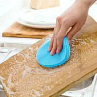 抖音同款洗锅刷去污硅胶厨房洗碗刷多功能瓜果蔬菜圆形硅胶洗碗布