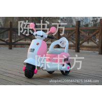 新款儿童电动车小木兰大白三轮摩托车宝宝电动脚踏车一件代发