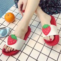 新款韩版可爱水果凉拖夏季浴室拖鞋洗澡女士情侣居家一件代发凉拖