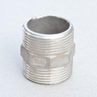 供应 不锈钢外丝 304六角对丝 双外丝对接 外牙接头  厂家直销
