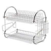 置物架餐具放碗筷碗柜 塑料家用组合厨房用品碗碟篮多功能收纳架