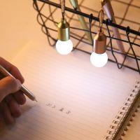0878 创意灯泡防尘塞中性笔0.38mm黑色水笔针管笔学生签字笔
