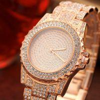 外贸爆款速卖通套装钢带手表满天星水钻手表厂新款女士手表女表