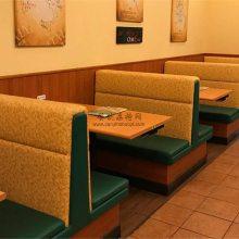 德宏酒店餐厅卡座沙发定制,饭店卡座桌子组合实拍案例图
