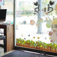 厂家批发 栅栏花草脚线腰线贴 客厅沙发装饰PVC透明膜墙贴