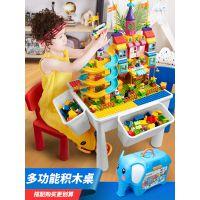 樂高社积木桌子男女孩子1-2-3-6周岁儿童玩具大小颗粒收纳多功能