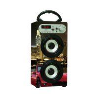 musiccrown厂家定制木质便携式卡拉OK无线蓝牙音响配有麦克风 收音机功能