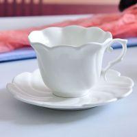 唐山达美瓷业批发纯白骨质瓷咖啡杯 陶瓷杯碟套装 定制礼品咖啡具