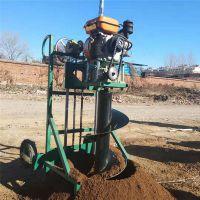 佳鑫耐磨稳定型手持钻地机 红豆杉种植挖坑机视频 山地种树打孔机厂家