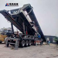 加工定制移动破碎工作站 石料碎石生产线 移动碎石机厂家