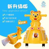 卡通儿童坐便器婴儿坐便器宝宝靠背抽屉式小马桶小孩便盆尿盆大号