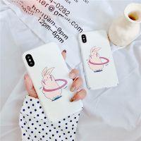 新款创意uv冷光手机壳iphonex可爱胖兔苹果七保护套半包防摔硬壳