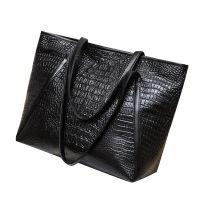女包2017新款欧美时尚鳄鱼纹手提包跨境畅销女士包包一件代发