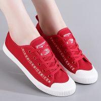 2018春夏季新款帆布鞋女学生韩版原宿风百搭休闲板鞋红色鞋子布鞋