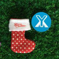 欢迎来图定制圣诞袜礼物袋 圣诞装饰用品 圣诞毛绒挂件 圣诞产品