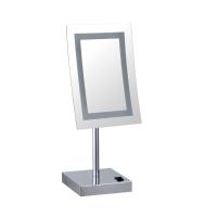 酒店浴室化妆镜壁挂led带灯伸缩镜子折叠卫生间双面放大镜美容镜