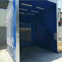季度热卖 移动式环保伸缩喷漆房 折叠式家具无尘喷烤漆房推拉蓬