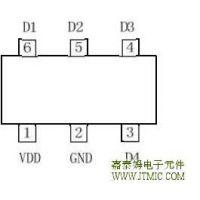供应嘉泰姆CXDR7544驱动IC单节锂电池电量LED指示芯片内置反馈回路4个电压点检测线性功率1W
