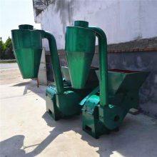 拖拉机带沙克龙粉碎机 秸秆饲料粉碎机 大型养殖饲料加工设备厂家
