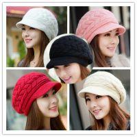 2018新款韩版毛线帽子女士秋季潮针织帽冬季加厚保暖冒子